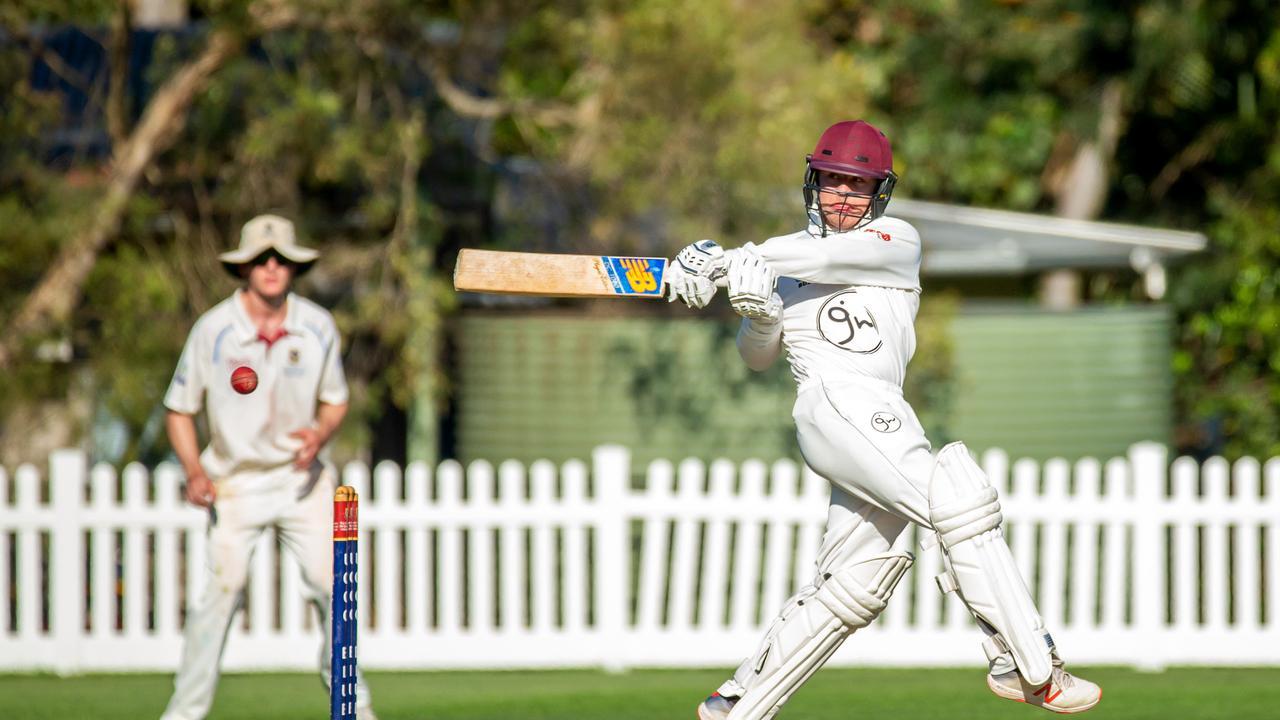 KEY PARTNERSHIP: Batsman Bryn Llewellyn helped Ipswich Logan record a vital first innings triumph. Picture: AAP Image/Richard Walker