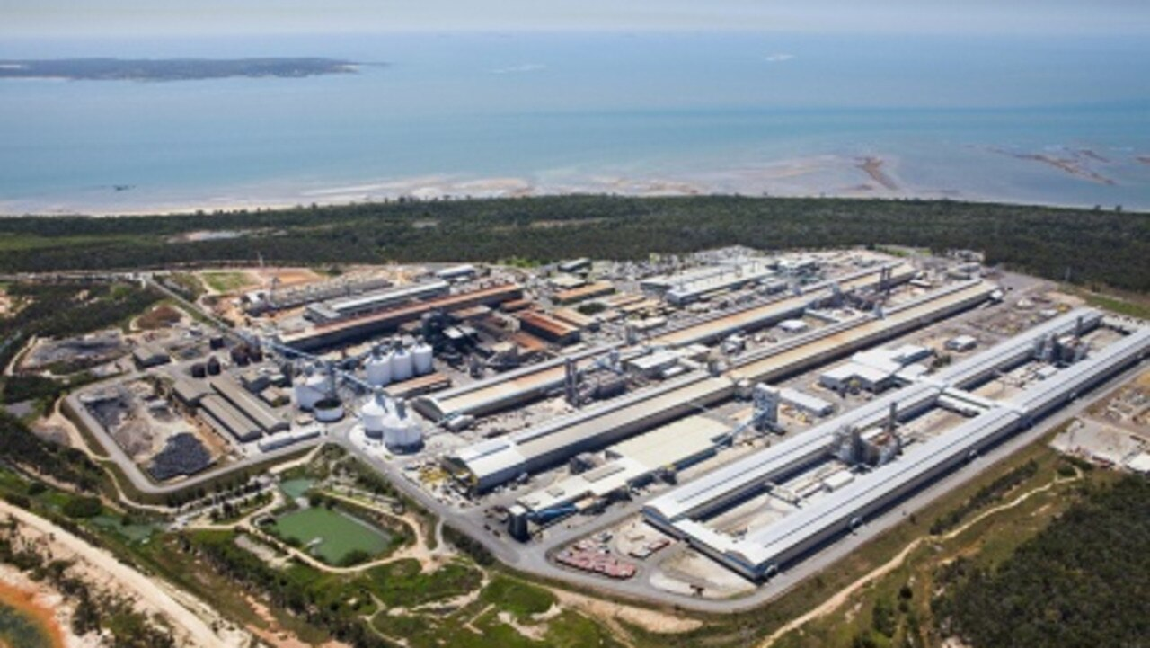 Rio Tinto's interests in Gladstone include the Boyne Smelter (pictured), Yarwun and Queensland Alumina Limited.