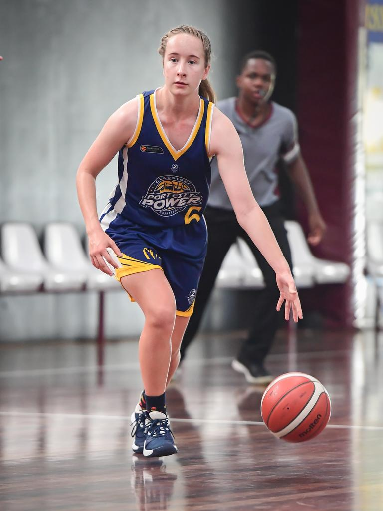 Port City Power's Erin Harvey dribbles the ball down the court. PICTURE: Brian Cassidy