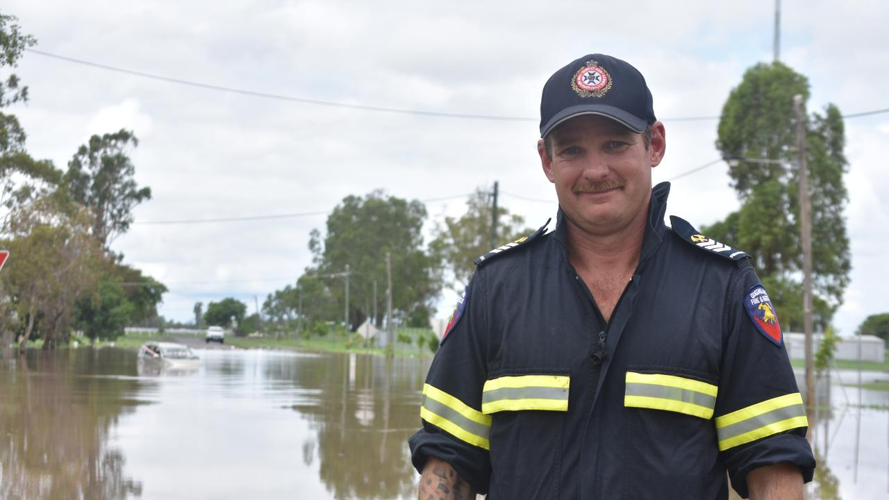 Tomas Neville from the Queensland Fire and Rescue Service is urging locals to smarten up around flood waters.