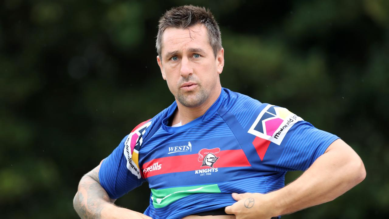 NEWCASTLE, AUSTRALIA - FEBRUARY 06: Mitchell Pearce of the Knights during a Newcastle Knights NRL training session at Newcastle on February 06, 2020 in Newcastle, Australia. (Photo by Tony Feder/Getty Images)
