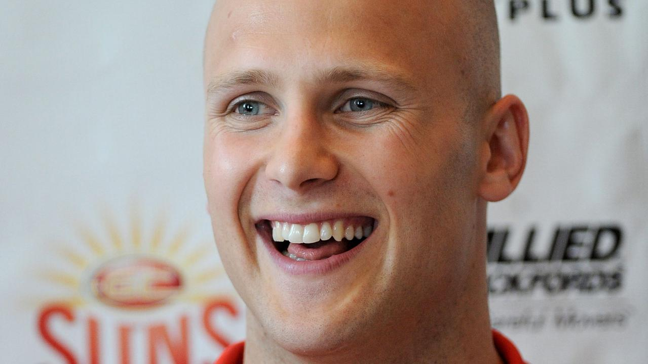 Ablett was all smiles after being signed.