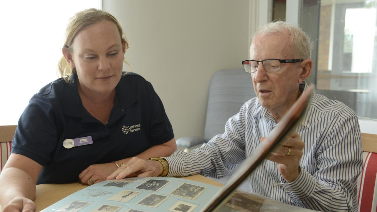 LEGACY IN WRITING: Toowoomba resident Neil Tracey-Smith, who has a terminal cancer diagnosis, is getting his life story transcribed by his carer Kristian Cox.