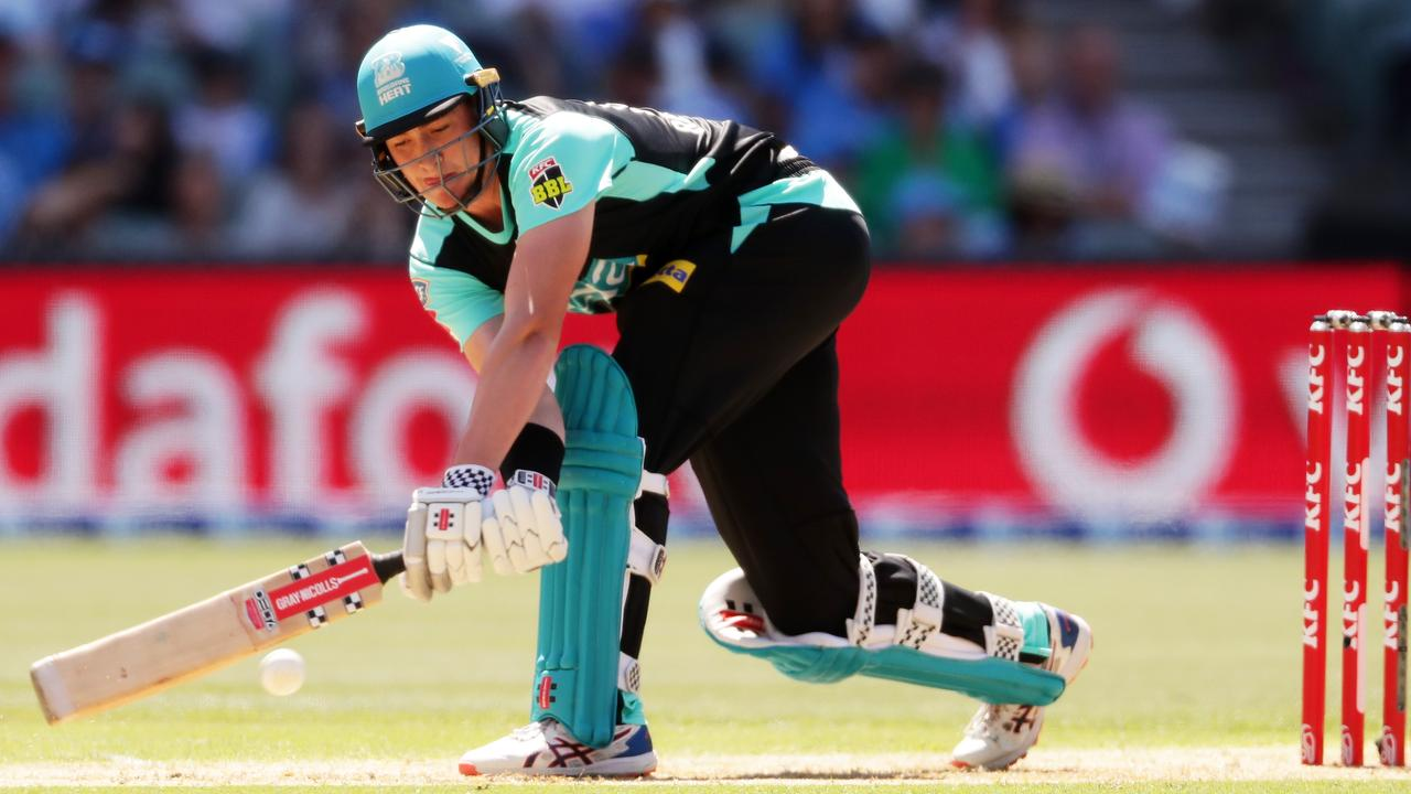 Matt Renshaw batting against the Strikers in BBL09. Picture: Matt King/Getty Images