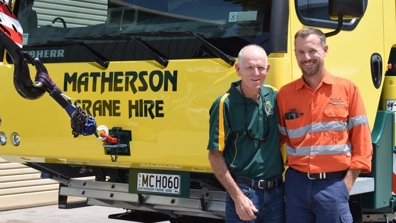 Neil and Wayne Matherson celebrate 40 years of Matherson Crane Hire
