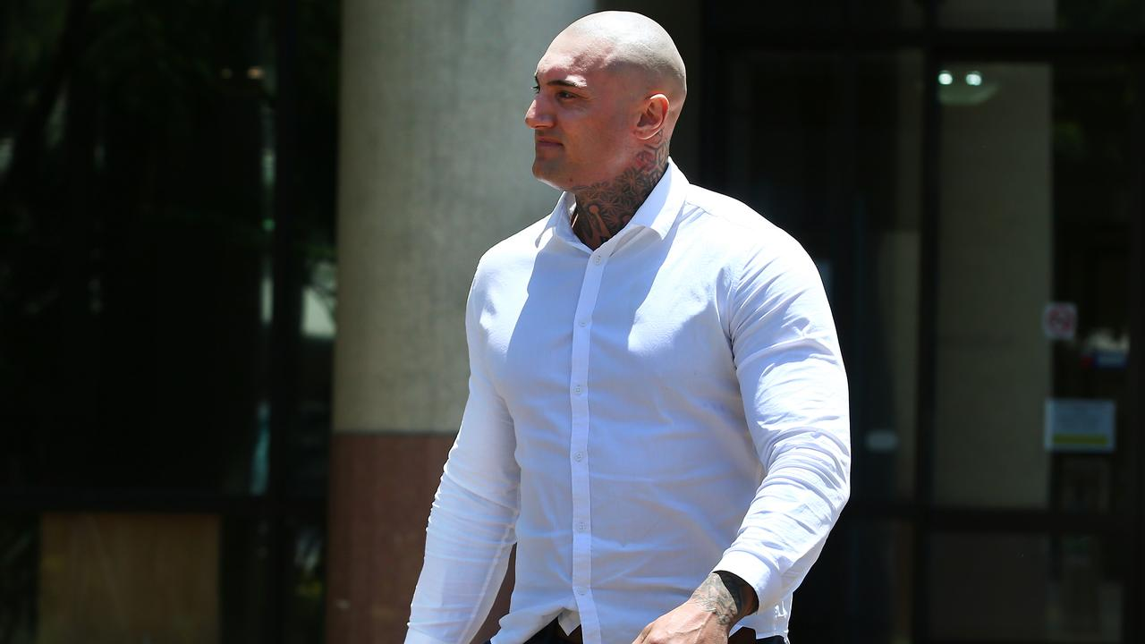 Matt Hilton walks from the Cairns Courthouse. PICTURE: BRENDAN RADKE