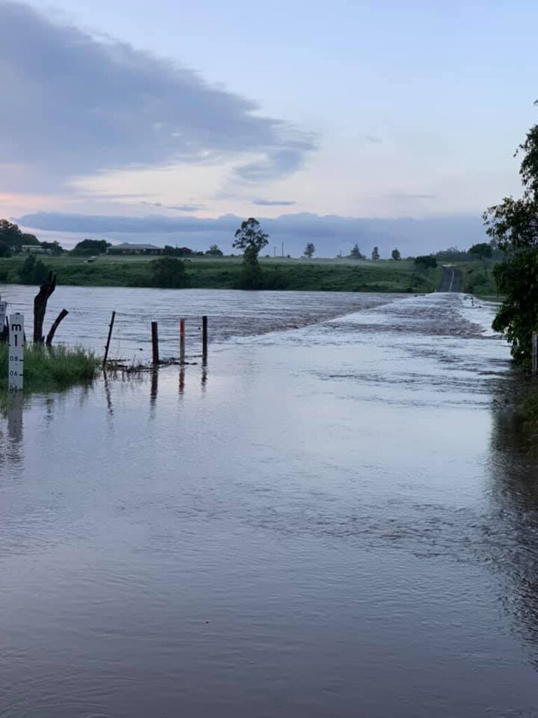 Rogans Bridge was closed on Monday due to rising flood water levels.