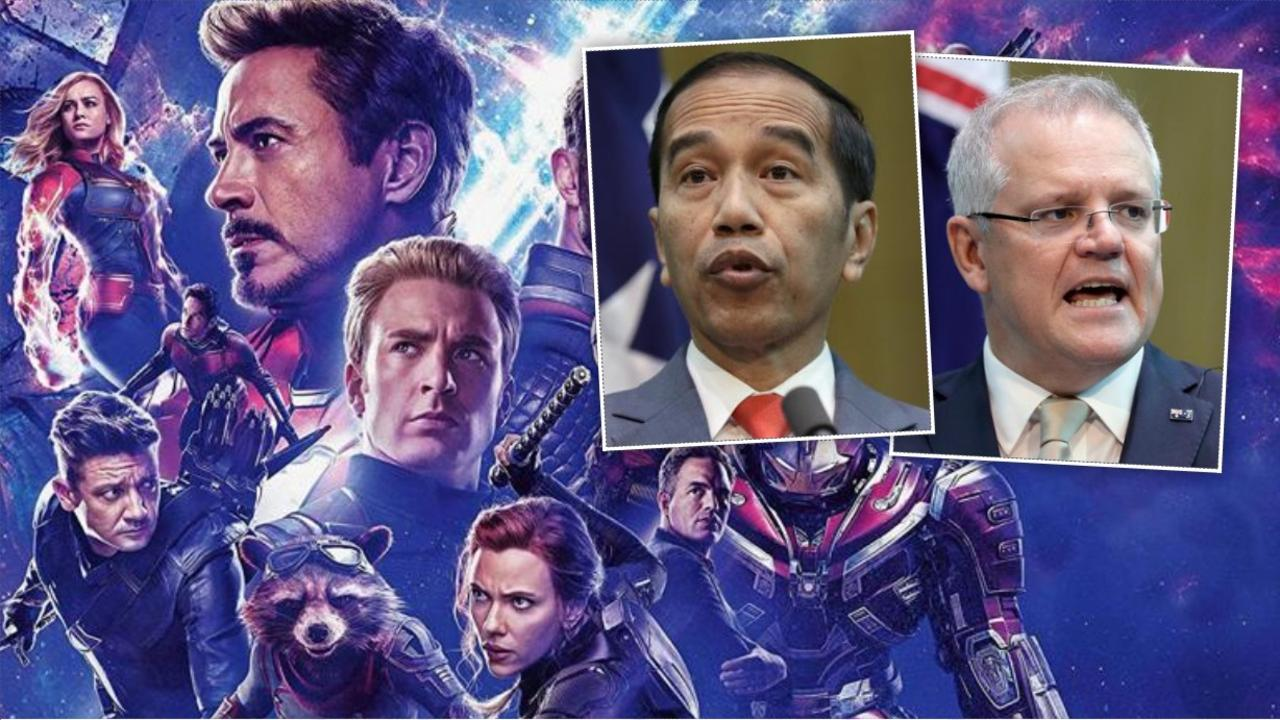 Indonesian president Joko Widodo said his country's relationship with Australia is like a movie where superheroes come together for the greater good.