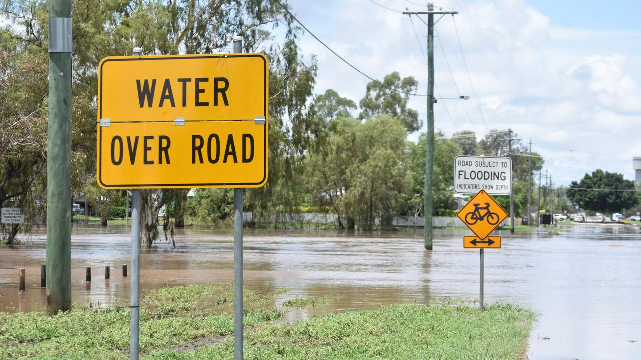 Water from the Myall Creek has flooded Dalby this weekend.