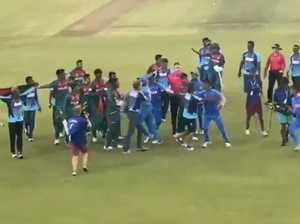 Ugly scenes mar historic World Cup victory