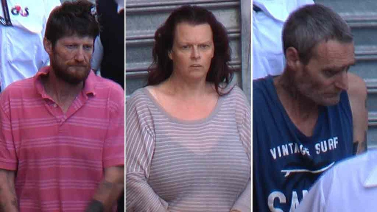These three people can now be revealed as those charged with the stabbing murder of a grandfather – one of them is his ex-wife who made the call to police.
