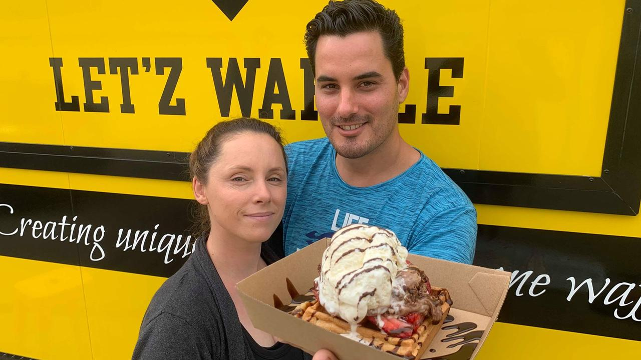 Let'z Waffle owners Christina and Aaron Townsend and their son William, have decided to make Mackay their home. Picture: Rainee Shepperson.
