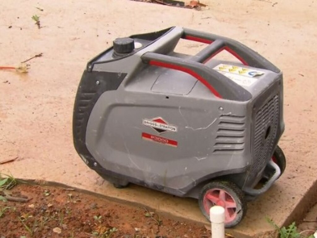The family had been using a generator after their power went out from the storms. Picture: 9 News
