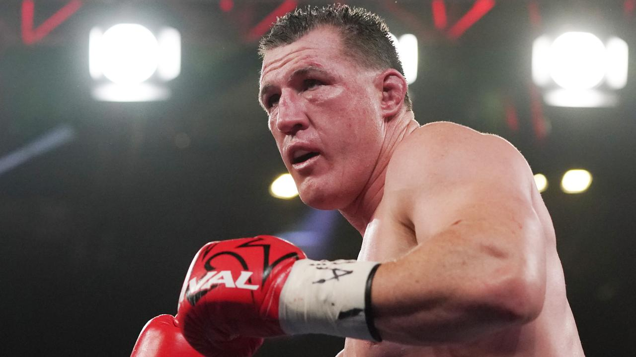 Paul Gallen fought to a controversial draw against Barry Hall. Picture: AAP/Michael Dodge