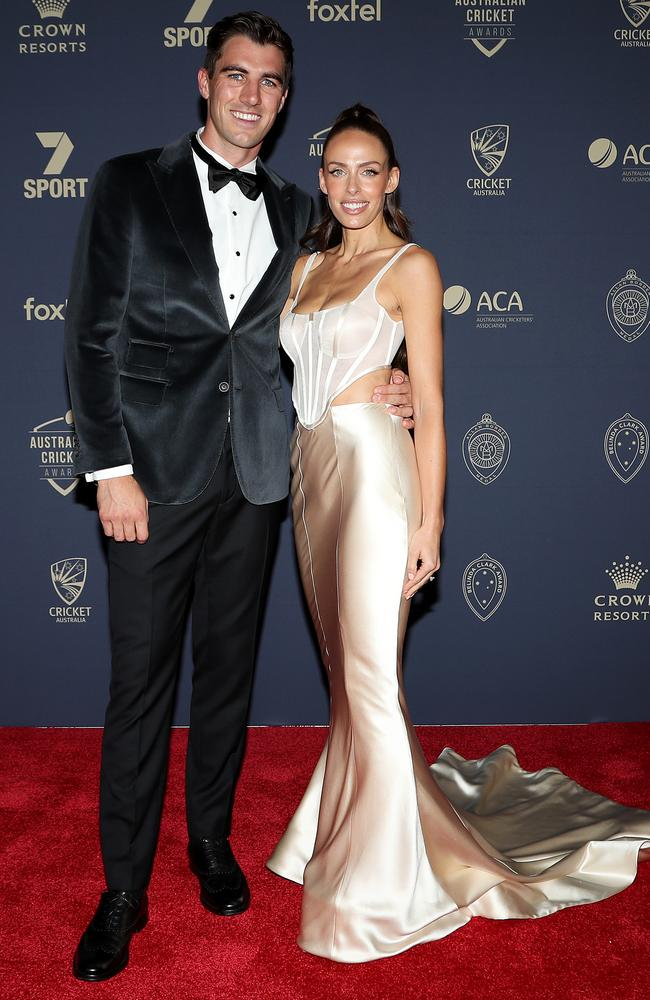 Pat Cummins and fiance Becky Boston. Picture: Getty Images
