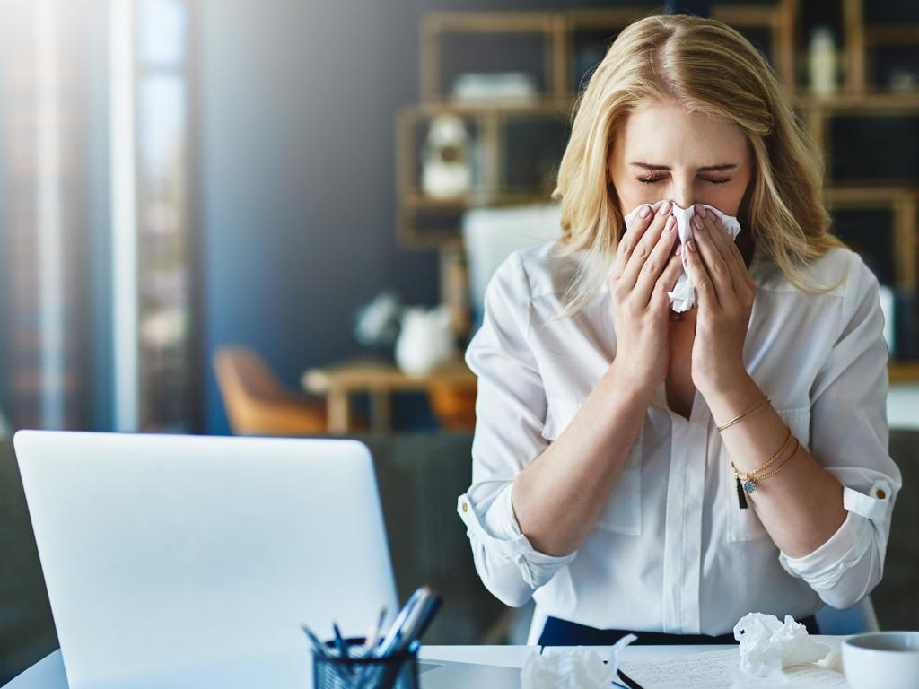 The office sicko. She's the worst. Picture: Istock