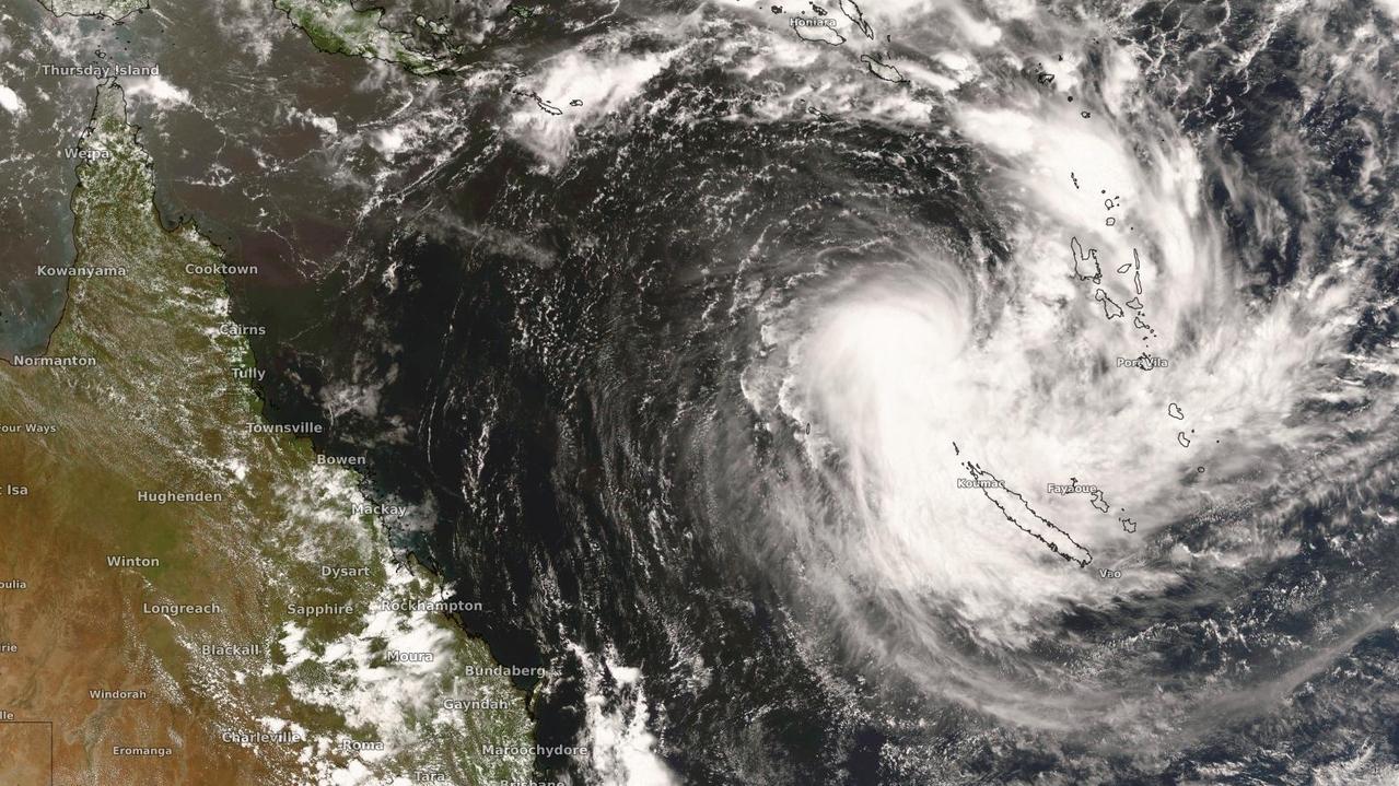 Cyclone Uesi pictured on Monday, February 10, 2020. Photo: Weatherzone