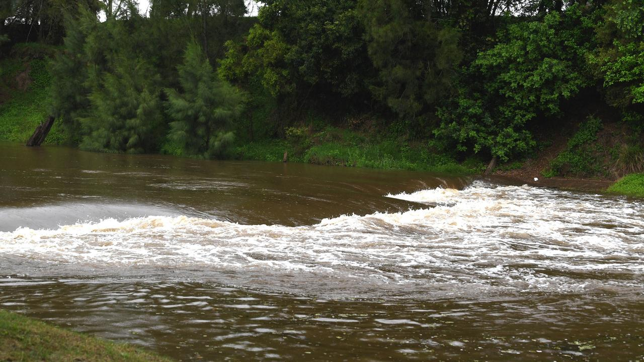 Gympie Wet Weather – Water level at the Gympie Weir 2pm Saturday