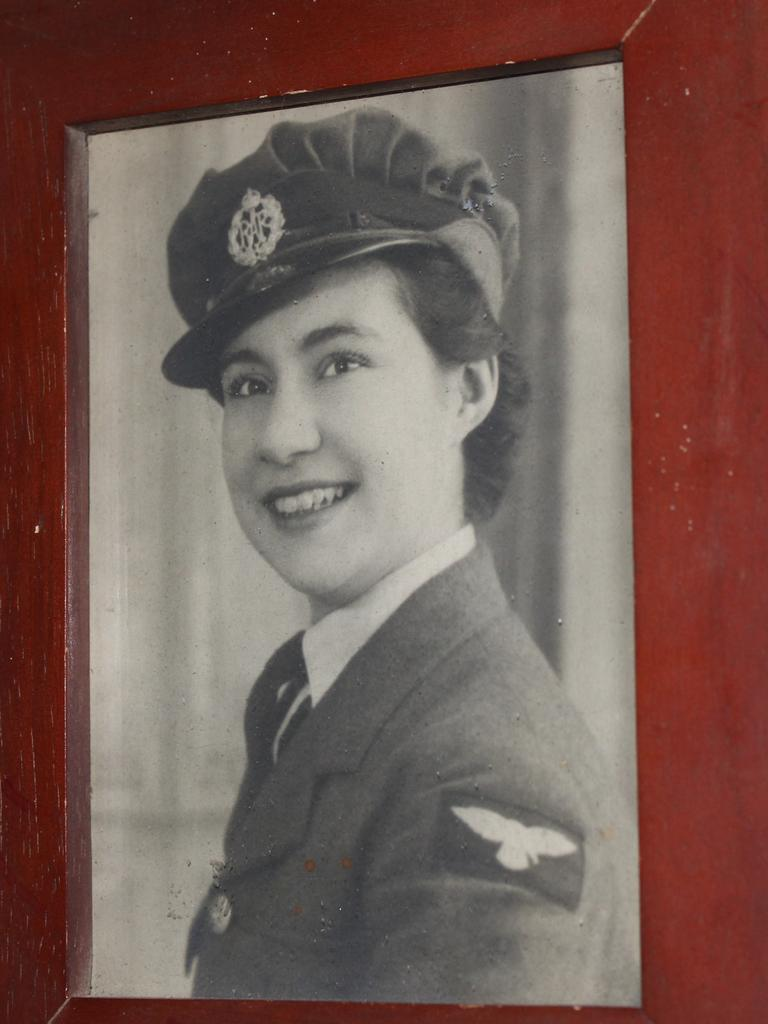 Jackie McLaughlin when she entered the air force at age 18.