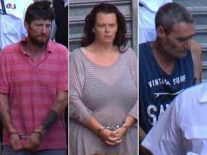 Unmasked: Trio accused of killing grandfatherface court