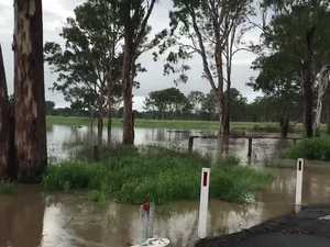 Flooded roads in Nanango