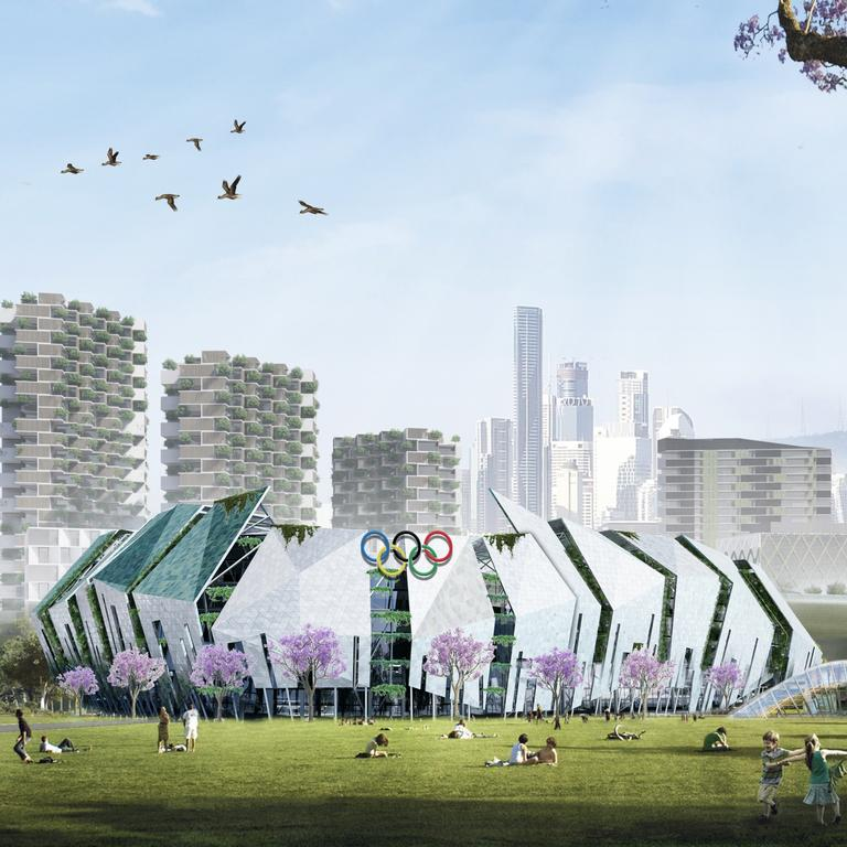 An early concept of an Olympic stadium in Brisbane. Picture: Urbis
