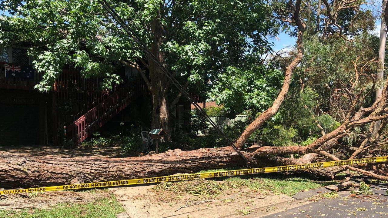 The scale of the debris clean up is hampering Ausgrid in the reconnection work. Picture: Ausgrid