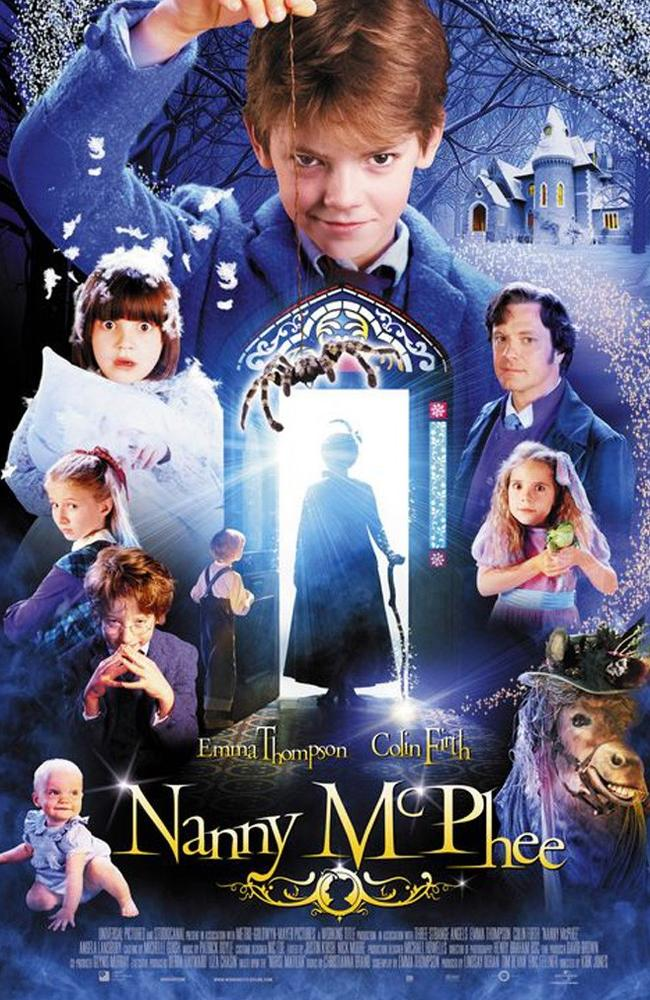 Coleman appeared above the baby on the Nanny McPhee movie poster.