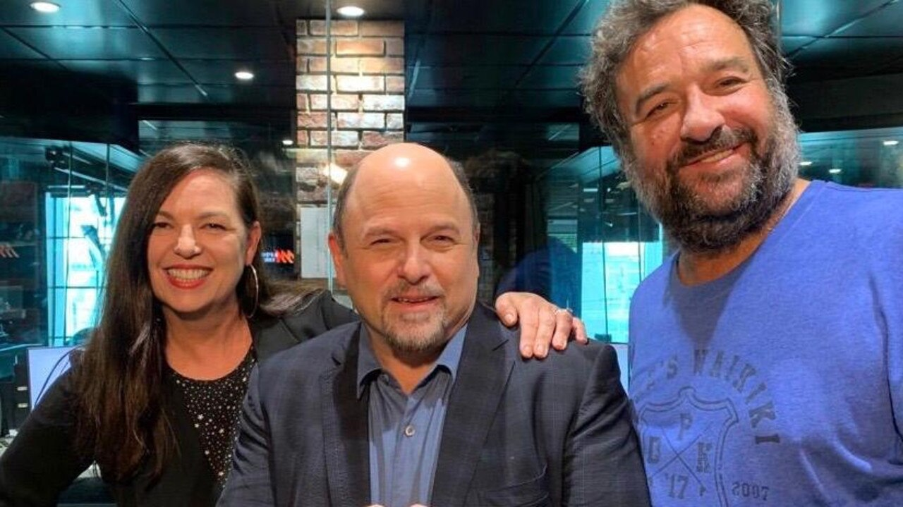 Jason Alexander was on Kennedy Molloy with Jane Kennedy and Mick Molloy this afternoon. Picture: Supplied.