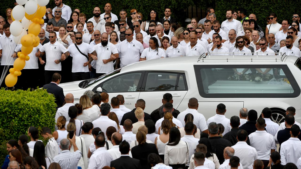Thousands turned out for the Abdallah funeral yesterday. Picture: AAP Image/Bianca De Marchi