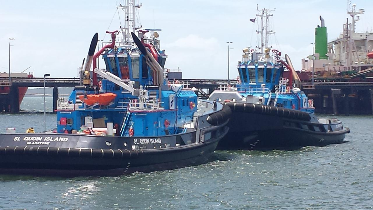 One of  Smit Lamnalco's tug boats in the Gladstone harbour.