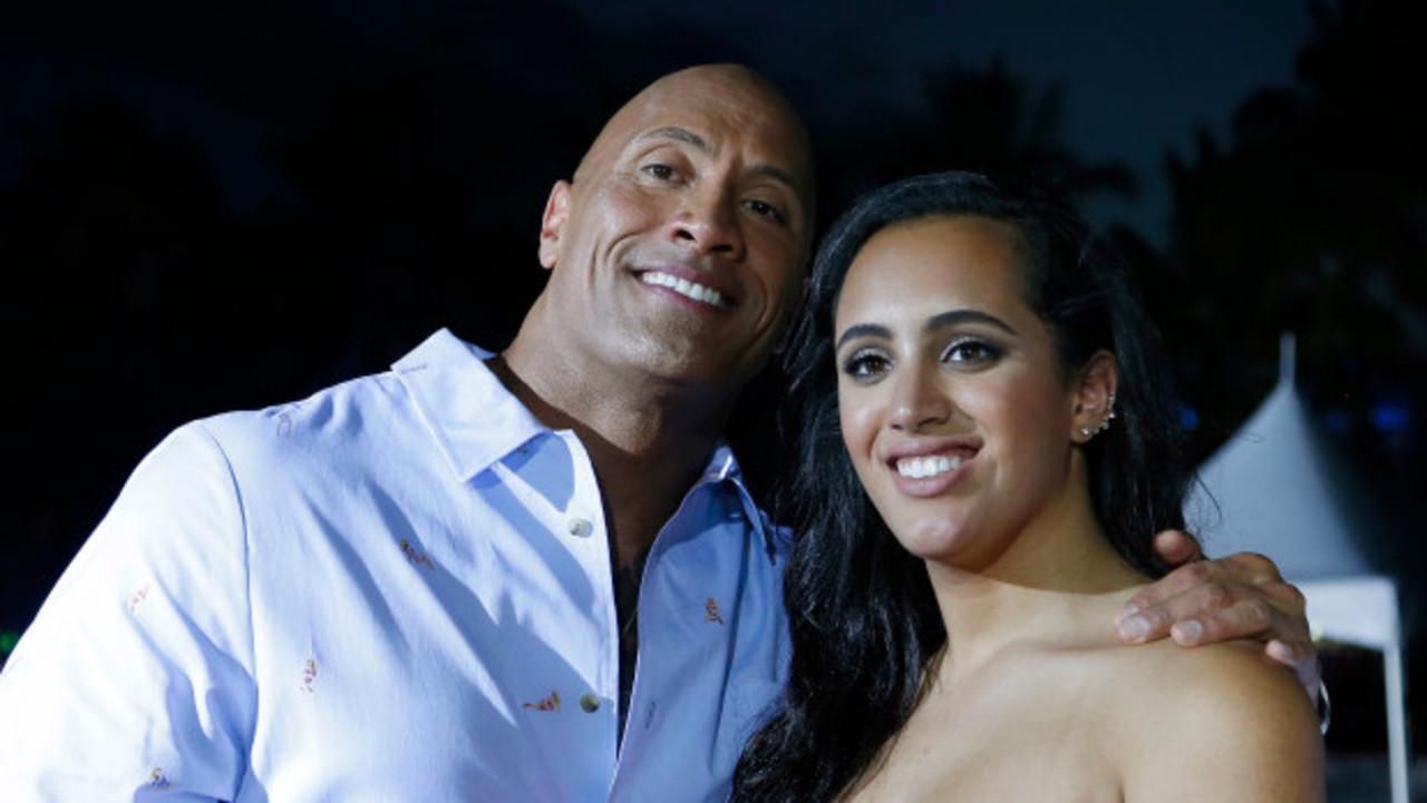 Dwayne Johnson and his daughter Simone.