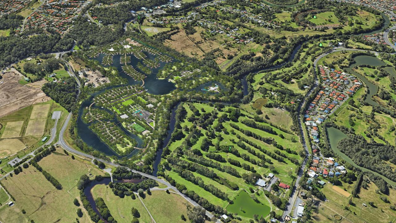 Artist impression of Ridong's Tallebudgera Wellness and Tourism Gardens project
