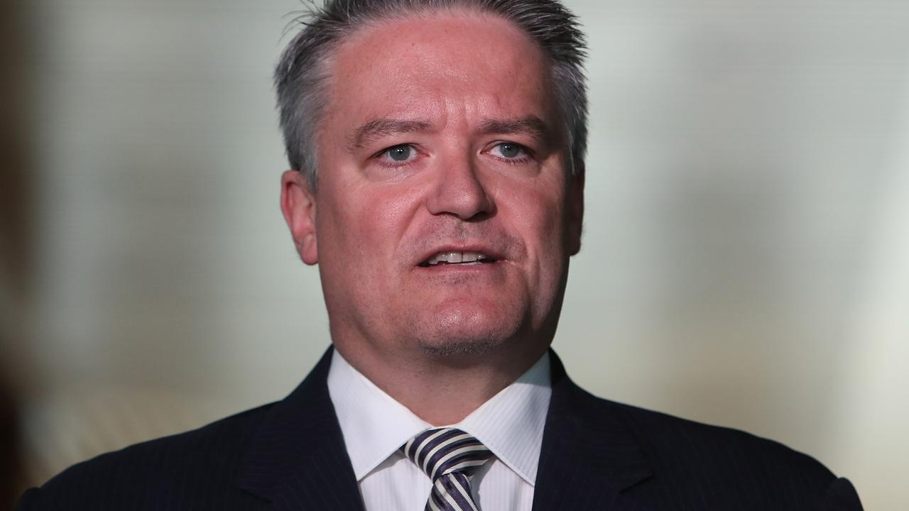 The government's Senate leader Mathias Cormann. Picture Kym Smith