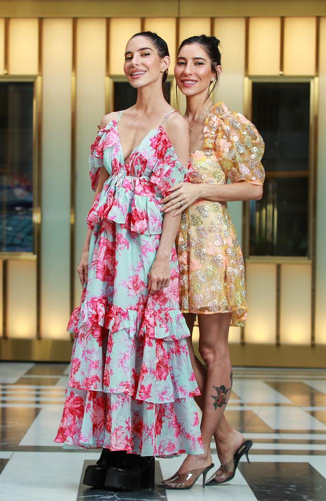 The Veronicas Lisa and Jessica Origliasso, at The Star, in Sydney, today. Picture: Justin Lloyd