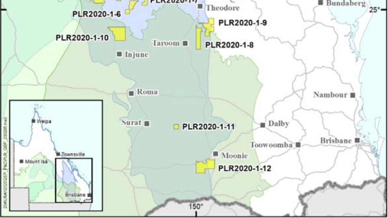 New areas have been opened for gas exploration in southern and central Queensland.