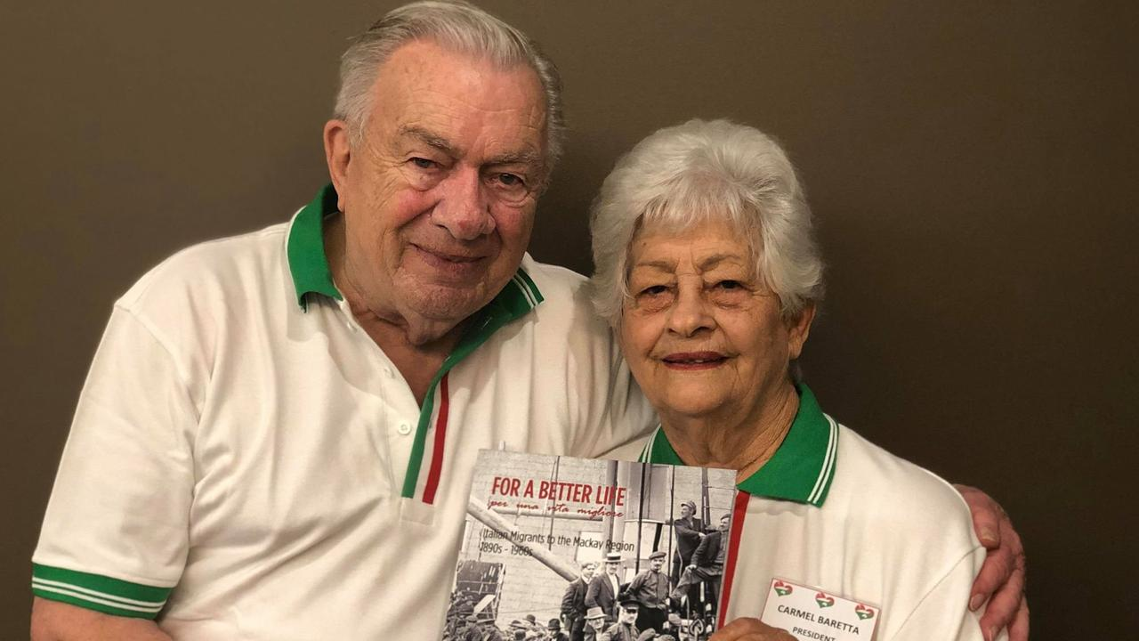 HISTORY: Gene Matthews and Carmel Baretta at the 2018 launch of the book For a Better Life, which tells 495 stories of Italian migrants to Mackay.