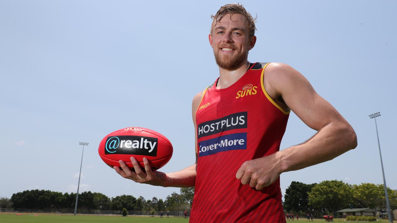 Hugh Greenwood at Gold Coast Suns training. Picture: Glenn Hampson