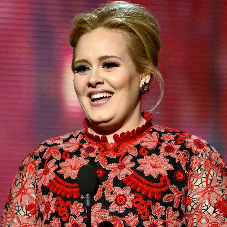Adele has been open about her struggles with exercising, previously revealed she doesn't 'skip to the gym'. Picture: Kevork Djansezian/Getty Images