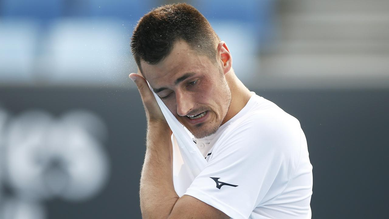 Bernard Tomic holds the ATP record for the quickest defeat, but almost set a new personal best after a horror straight sets loss in New York.