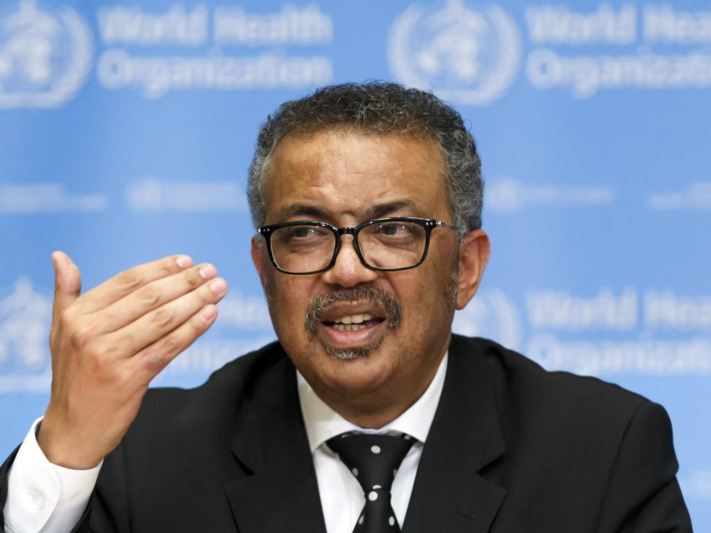 Tedros Adhanom Ghebreyesus, Director General of the World Health Organisation. Picture: AP