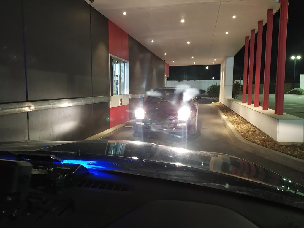 That's one expensive Macca's run. Picture: Wyndham Police Service/Facebook