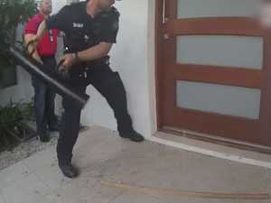 SEE THE VIDEO: Bikie-busting cops raid home
