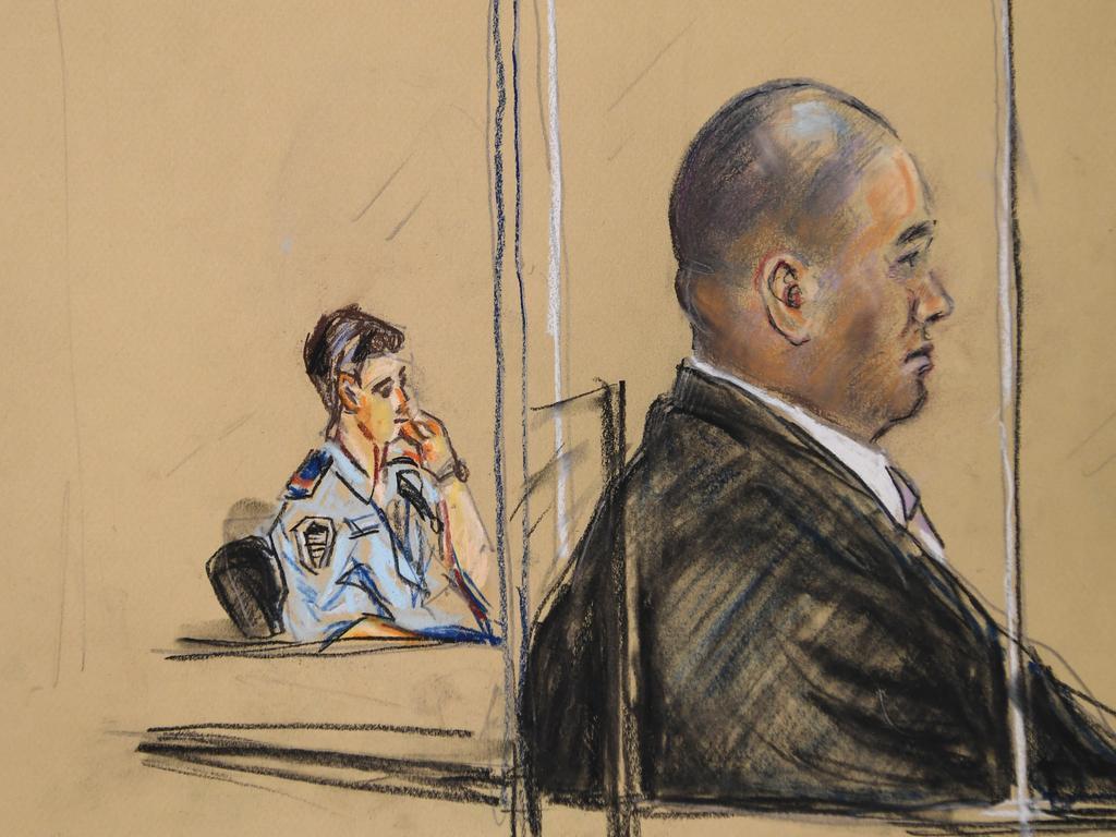 A court sketch of murder accused Tuhirangi-Thomas Tahiata. Picture: Michael Felix