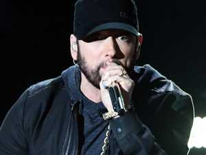 Elaborate cover-up for Eminem surprise