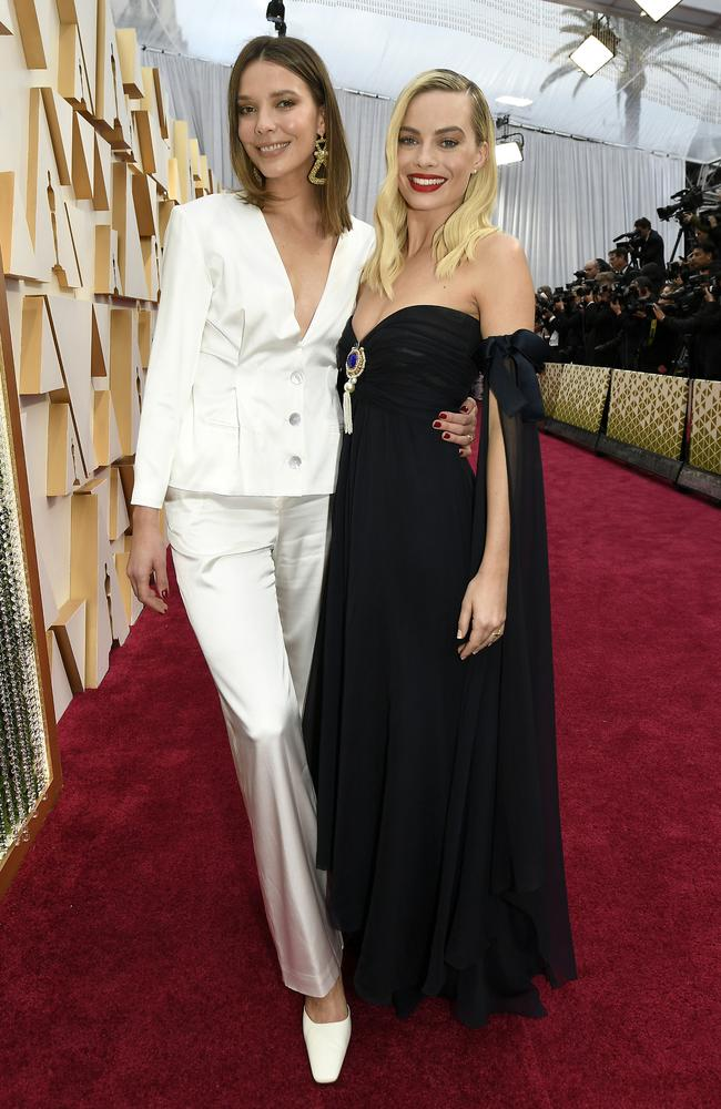 Robbie (left) and her cousin Julia Chalmers attended the 92nd Annual Academy Awards at Hollywood and Highland on February 09, 2020 in Hollywood, California. Picture: Kevork Djansezian/Getty Images