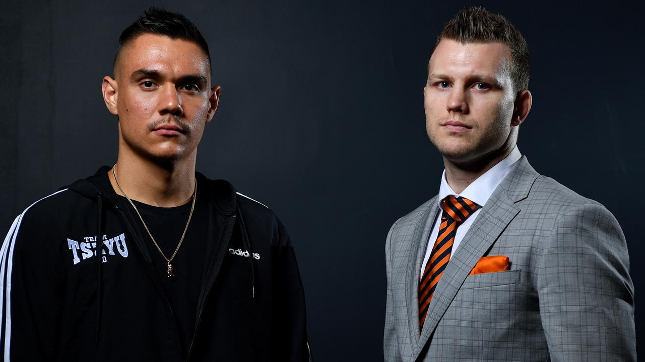 Tim Tszyu and Jeff Horn are expected to fight on April 22, but the date and venue could change. Picture: AAP