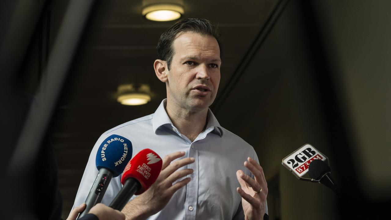 Senator Matt Canavan condemned moderate city Liberals, accusing them of going against federal government policy on coal. Picture: Gary Ramage