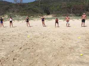 Olympians train at Byron Bay
