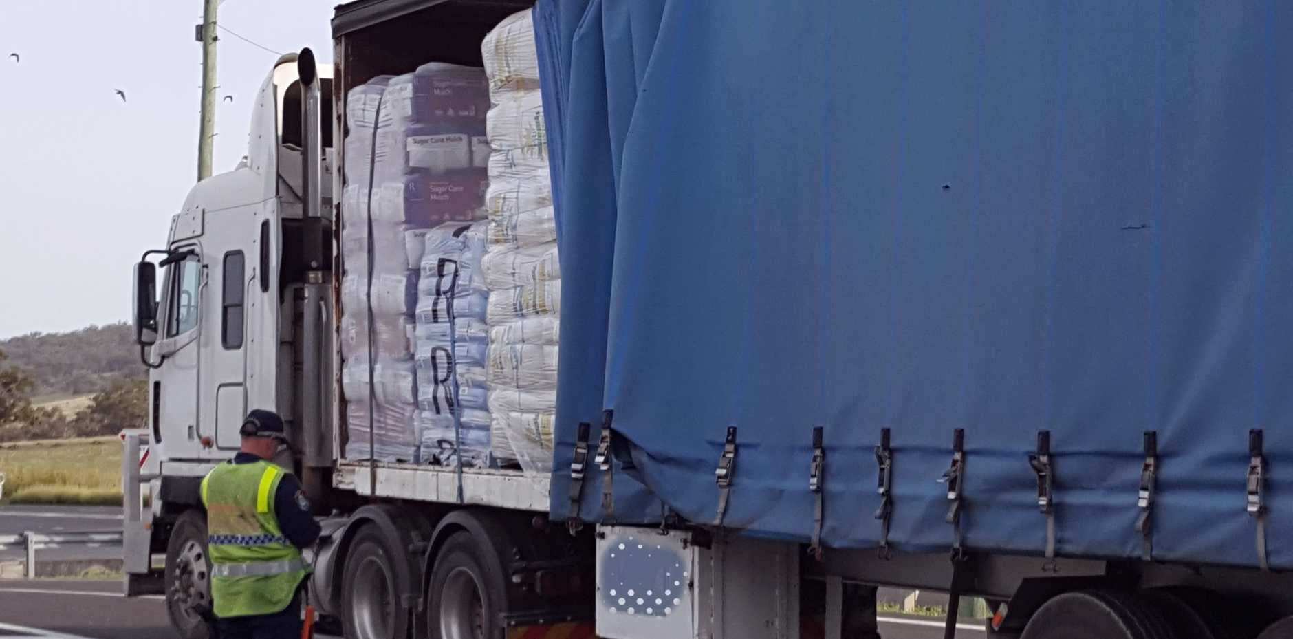Almost 700 trucks were inspected in the first major blitz of 2020 in New South Wales. PHOTO: Traffic and Highway Patrol Command NSW Police Force